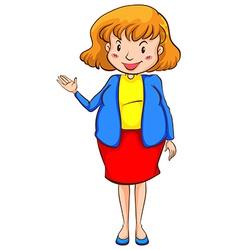 A smiling teacher vector image vector image