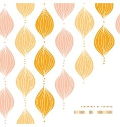 abstract golden ogee frame corner pattern vector image vector image