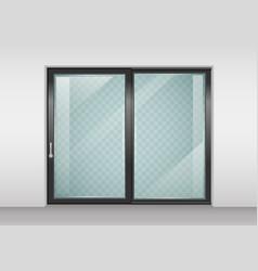 contemporary sliding door vector image vector image