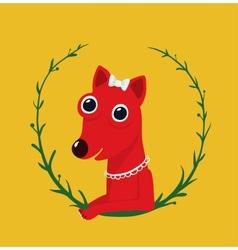 Cute Female Dog Portrait vector image