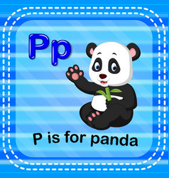 flashcard letter p is for panda vector image vector image