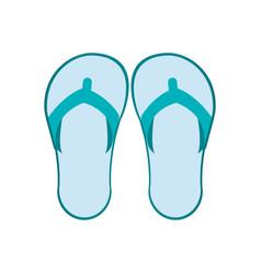 Flip flops icon vector