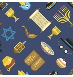 Jew icons seamless pattern vector image