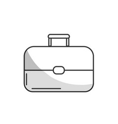 line business suitcase to save important document vector image vector image