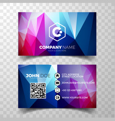 Modern abstract business card design template vector
