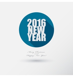 New Year 2016 Icon with long Shadow Merry vector image vector image