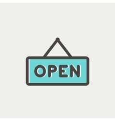 Open sign thin line icon vector image vector image