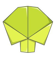 origami tree icon cartoon style vector image