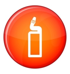 Plastic bottle of drain cleaner icon flat style vector