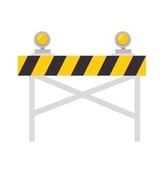 road warning barrier vector image