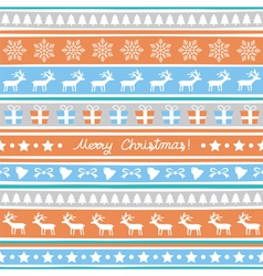 Seamless Christmas background17 vector image vector image