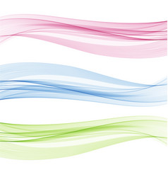 set of abstract color wave color smoke wave vector image