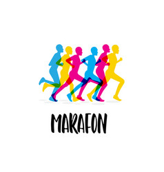 sporting event marathon vector image vector image