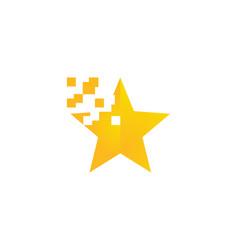 star pixel logo vector image vector image