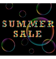 Summer sale colorful triangle poster vector image vector image