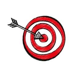 Target dartboard game vector