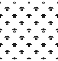 Umbrella and business case pattern simple style vector