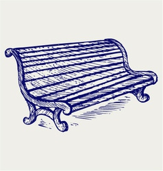 Wooden bench vector