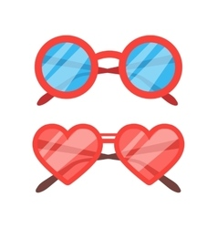 Sunglasses icon set vector