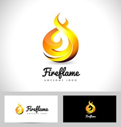 Fire Flame Logo 3D Fire Logo Concept Flame Icon vector image
