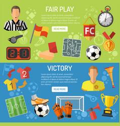 soccer horizontal banners vector image