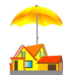 House under the umbrella vector
