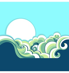 Blue sea vector image