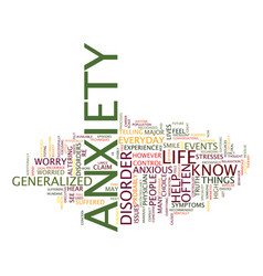 The anxiety of everyday life text background word vector