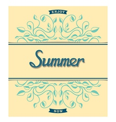 Summer card with floral pattern vector