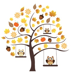 Fall owls vector