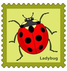 Ladybug stamp vector image