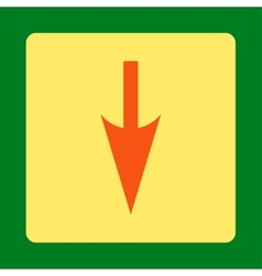 Sharp down arrow flat orange and yellow colors vector