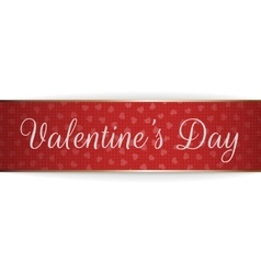 Realistic greeting ribbon with valentines day text vector