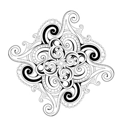 Coloring book page with ethnic ornaments vector image