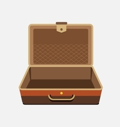 Empty suitcase for summer holiday - vector