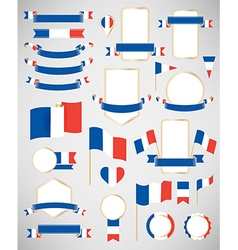 France flag decoration elements vector