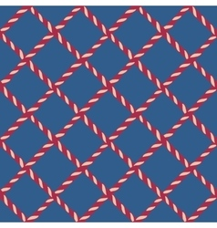 Nautical crossed rope seamless pattern vector
