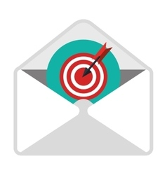 Email with goal content icon vector image