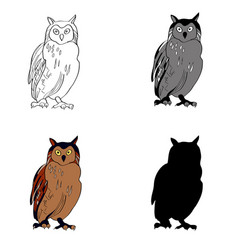 an image of a sitting owl vector image vector image