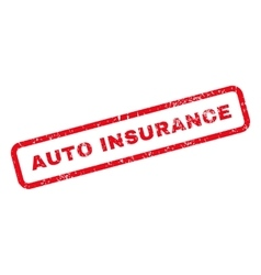 Auto insurance text rubber stamp vector