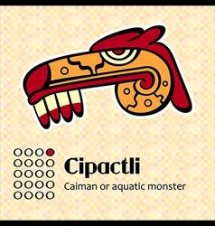 Aztec symbol Cipactli vector image vector image