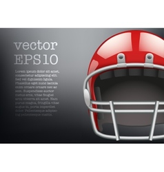 Background of American football helmet vector image