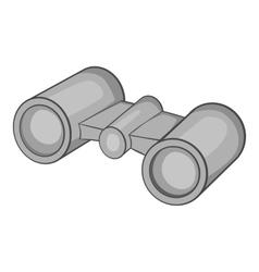 Binoculars icon gray monochrome style vector