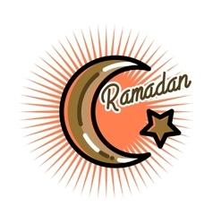 Color vintage ramadan emblem vector