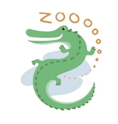 Cute Zoo Animal Kawaii eyes and style vector image vector image