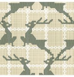 deers embroidery vector image