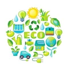 Ecology cartoon composition vector