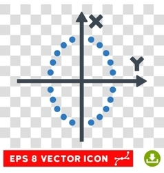 Ellipse plot eps icon vector