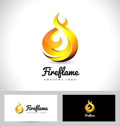 Fire Flame Logo 3D Fire Logo Concept Flame Icon vector image