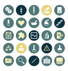 Flat design icons for medical science vector